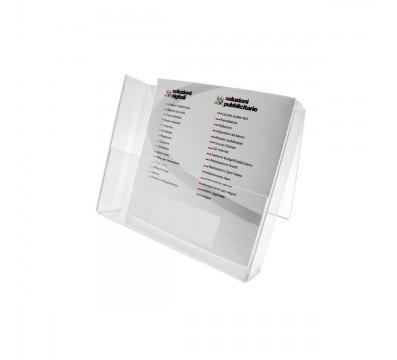 Prospekthalter aus Plexiglass, transparent