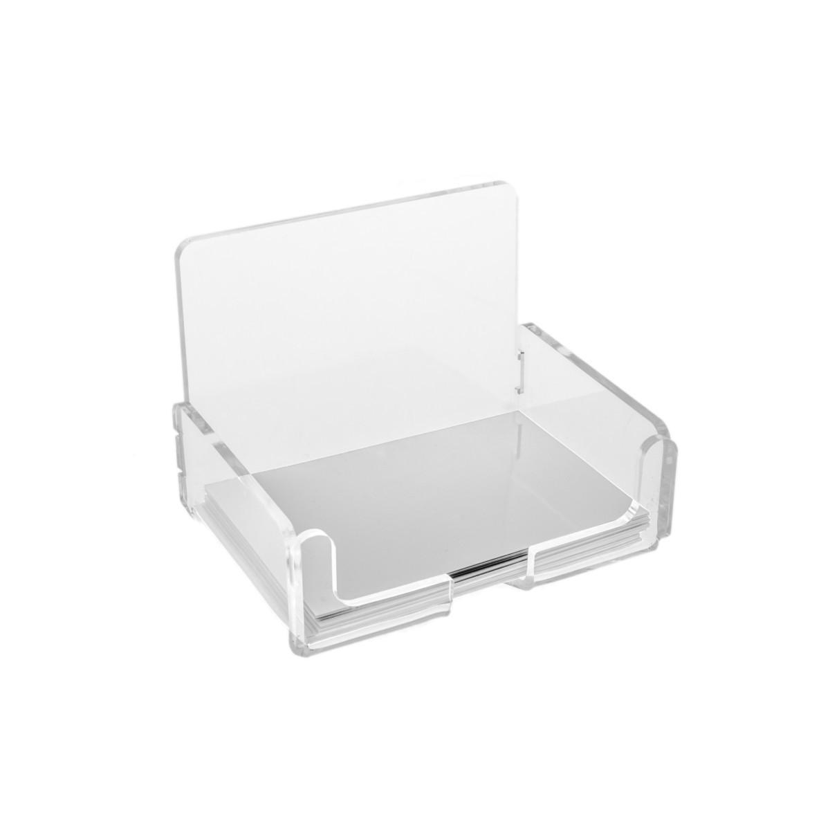 E-028 PV - Porta biglietti da visita in plexiglass trasparente