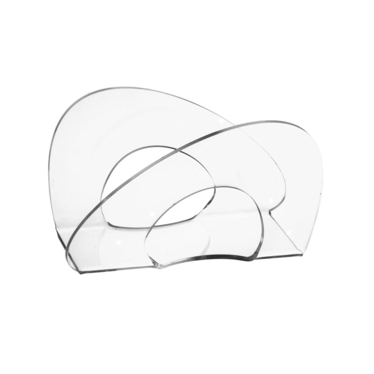 Rond de serviettes de comptoir en acrylique transparent - Dimensions: 13,5 x 5 x H8 cm