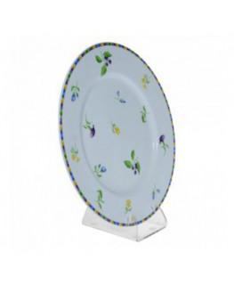 E-035 RP-B - Reggipiatto in plexiglass trasparente - Misure: 8x10,5x H11,5 cm.