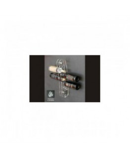 E-039 PB - Espositore porta bottiglie a parete 6 fori