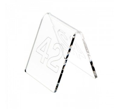 Clear Acrylic placeholderon stand