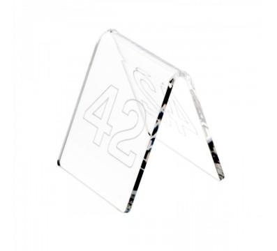 Platzschildchen aus Plexiglass, transparent