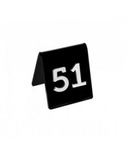 E-041 NT-E - Segnaposti in plexiglass colorato - Misure: 6x7x H6.5 cm - numeri in rilievo colorati