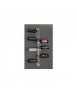 E-043 PB - Espositore porta bottiglie a parete 16 fori