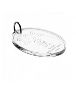 Clear Acrylic keychain for hotels