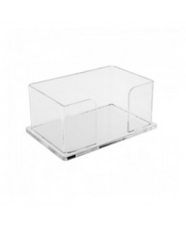 E-052 PP-C - Porta post it in plexiglass trasparente - Misure interne: 13 x 8 x H6 cm