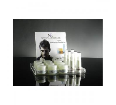 E-066 EP - Espositore da banco in plexiglass trasparente per cosmetici A