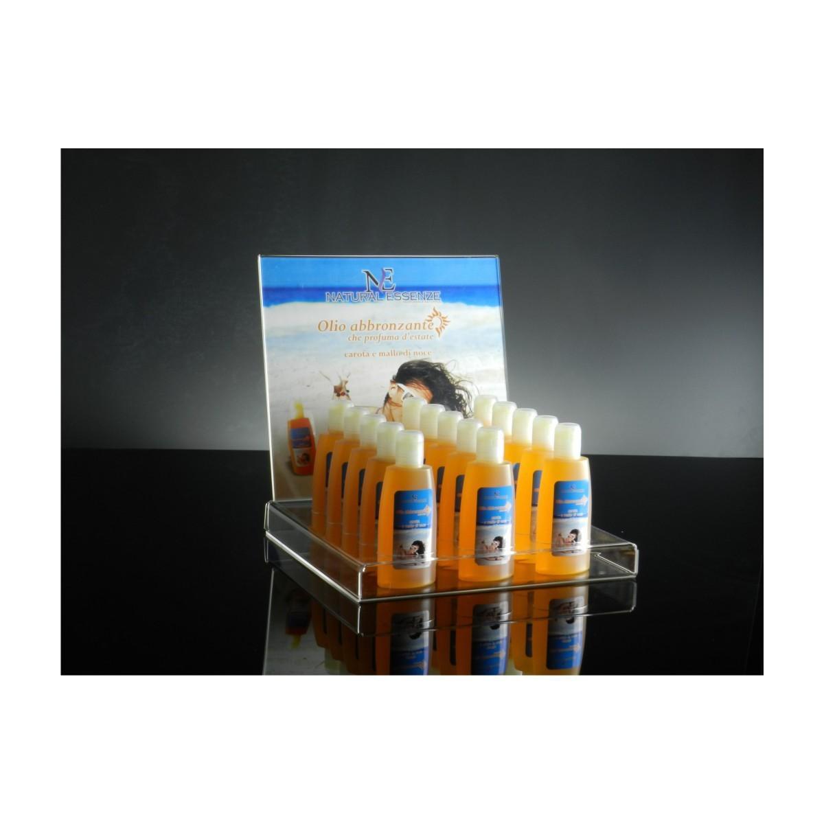 E-067 EP - Espositore da banco in plexiglass trasparente per cosmetici B