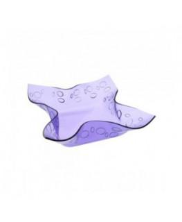 E-074 PO-B - Vassoio in plexiglass trasparente colorato porta oggetti - Misure: 25 x 25 x H6.5 cm - Spessore 3 mm