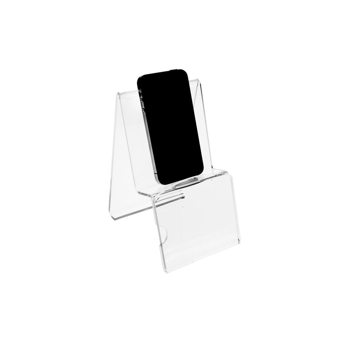 E-081 PT - Portacellulare in plexiglass - Misura: 10x13x H16 cm