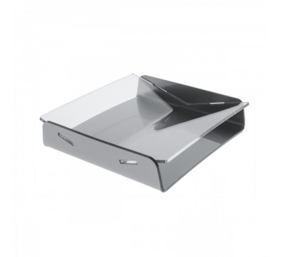 Clear and gray acrylic cash tray