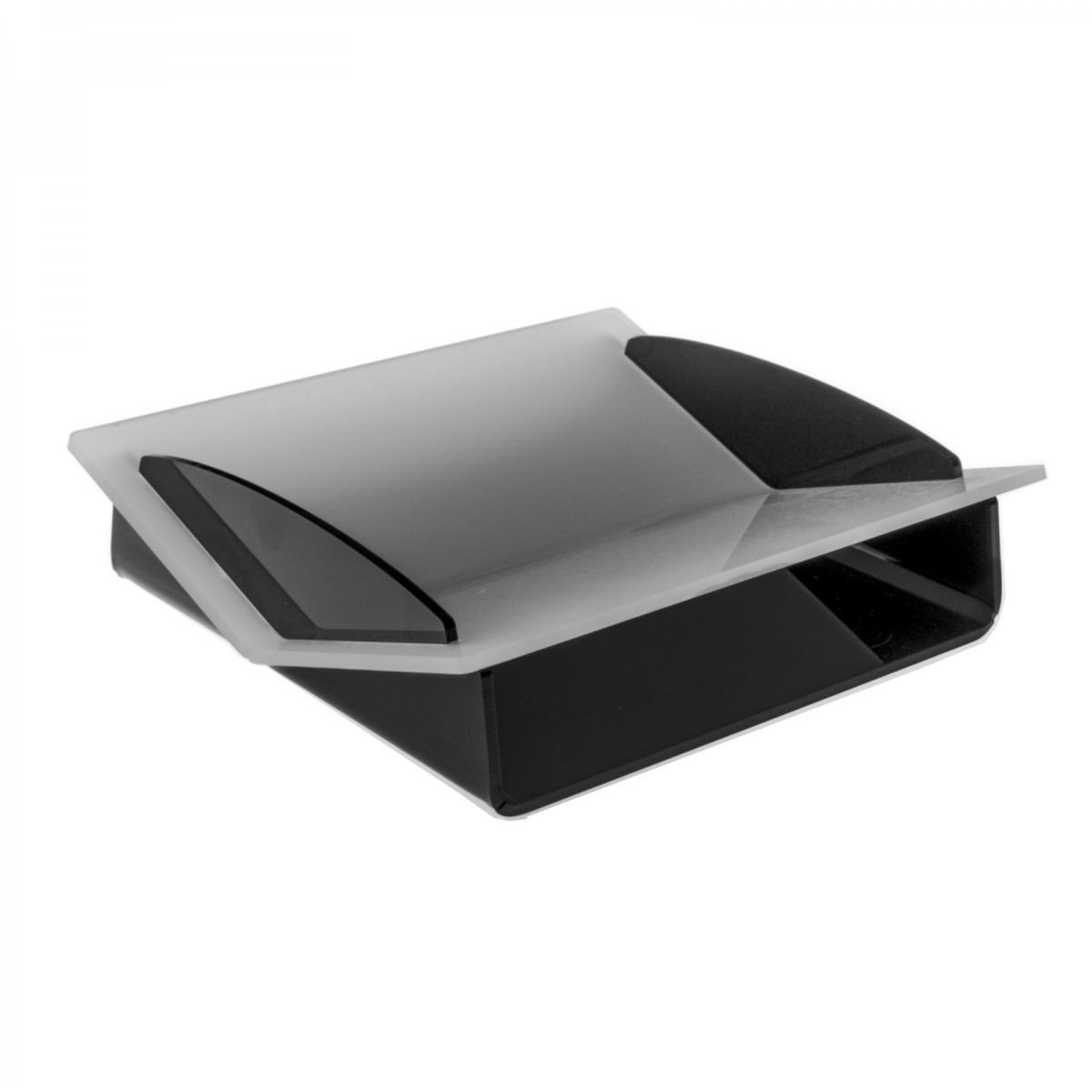 Black and frosted Acrylic cash tray