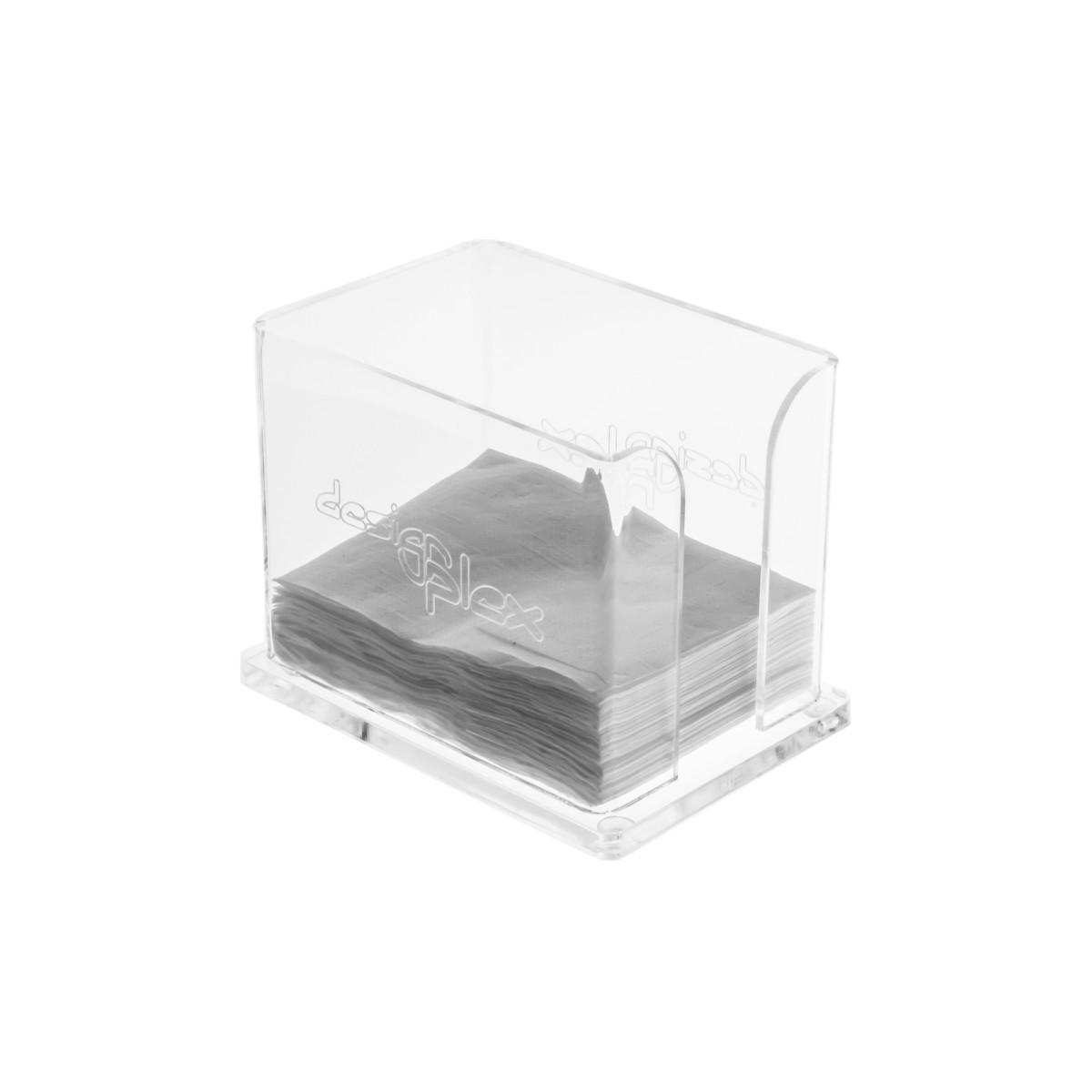 Rond de serviette en acrylique transparent - Dimensions: 10 x 14 x H11 cm