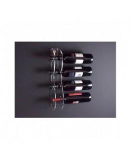 E-090 PBT-B - Portabottiglie in plexiglass trasparente per 4 bottiglie - Misure: 12x6x H44