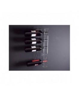 E-090 PBT-C - Portabottiglie in plexiglass trasparente per 5 bottiglie - Misure: 13 x 6 x H52 cm