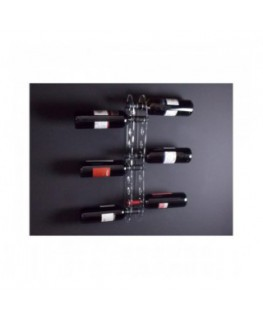 Portabottiglie in plexiglass trasparente per 10 bottiglie - Misure: 13 x 6 x H60 cm