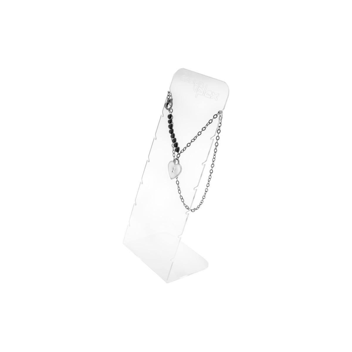 Présentoir de comptoir en acrylique pour les chaines - Dimensions: 14x10x H34 cm