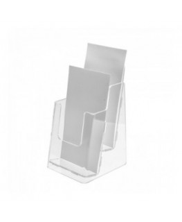 1/3 rd A4 Acrylic tabletop brochure holder – Double-sided