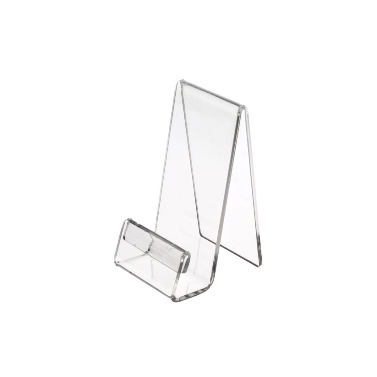 E-123 PCE-B - Portacellulare in plexiglass trasparente con segnaprezzo - Misura: 6x8xH12 cm