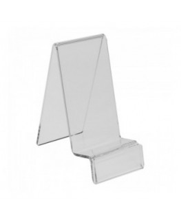 Clear acrylic mobile phone/smartphone display holder with price tag