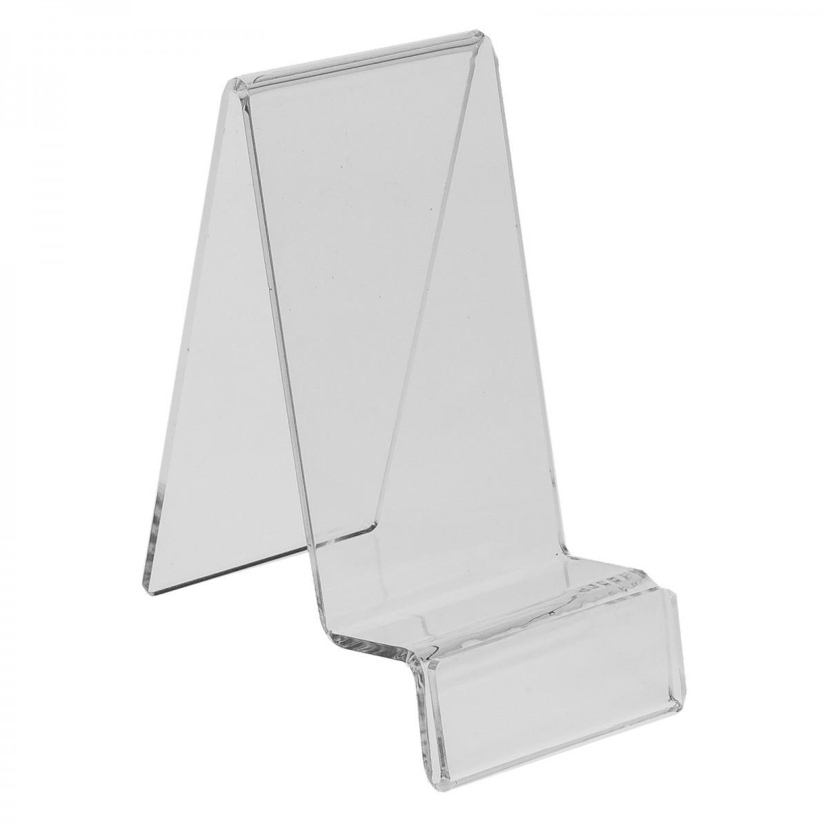 E-123 PCE-D - Espositore in plexiglass per cellulari / smartphone con porta prezzo - Misura: 7x12x H14 cm