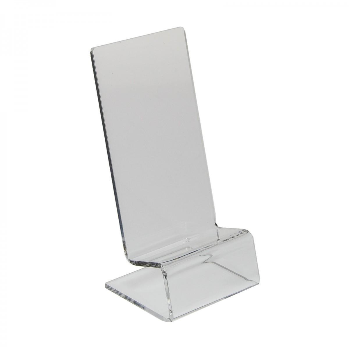 E-123 PCE-E - Espositore in plexiglass per cellulari / smartphone - Misura: 7x7x H14,5 cm