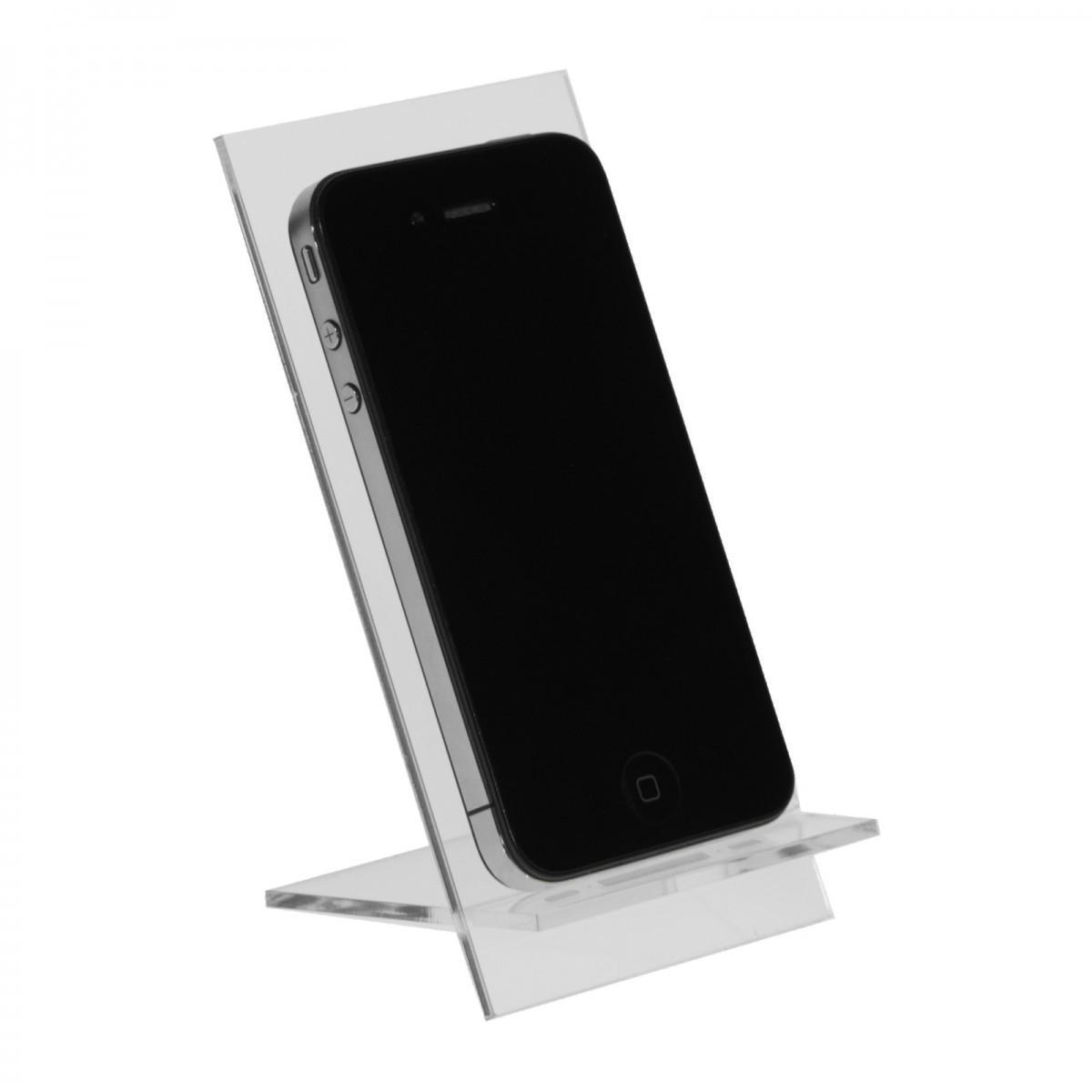 E-123 PCE-G - Espositore in plexiglass per cellulari / smartphone - Misura: 7x9x H12 cm