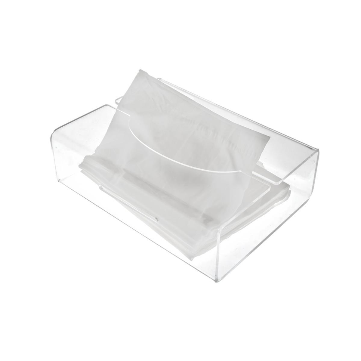 E-124 PKL-B - Porta kleenex in plexiglass trasparente - Misura: 23x13x H6 cm