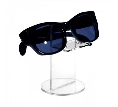 Brillenhalter aus Plexiglass, transparent