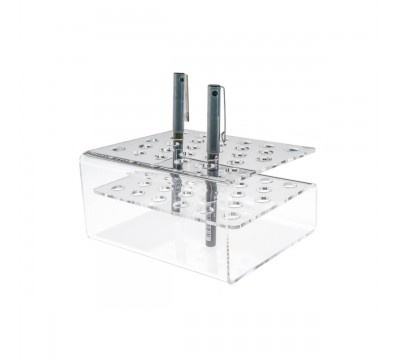Clear Acrylic pencil holder – 28 Compartments