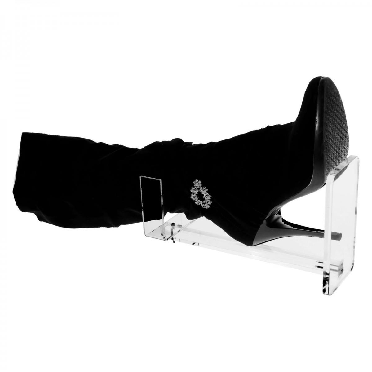 E-157 ESP - Espositore porta stivali in plexiglass trasparente - Misure: 8x15x H30 cm