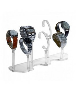 Clear Acrylic wrist watch display holder stand, for bracelet 7 watches