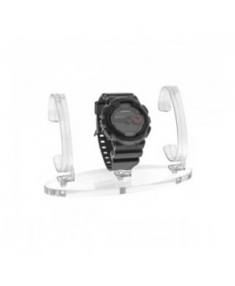 Clear wrist watch display...