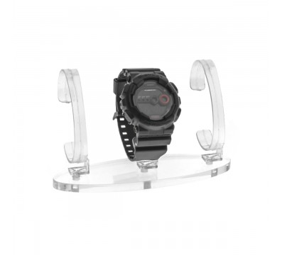Clear wrist watch display holder stand, for 3 bracelet watches