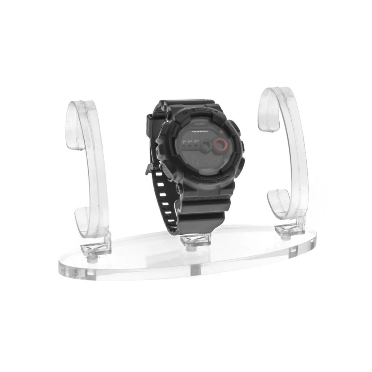 E-165 EPO-C - Portaorologi in plexiglass trasparente a 3 postazioni - Misure: 16x5x H10 cm
