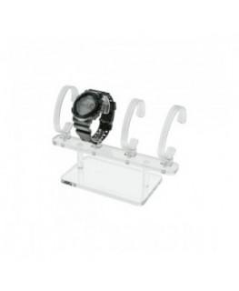 E-166 EPO - Portaorologi in plexiglass trasparente a 4 postazioni - Misure: 22x9x H14 cm