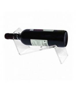 E-175 PBT-C - Portabottiglie in plexiglass trasparente da banco per 1 bottiglia - CM(LxPxH): 29x10x10