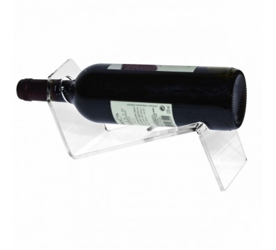 1-bottle counter-top bottle holder in transparent Plexiglass - CM(LxPxH): 29x10x10