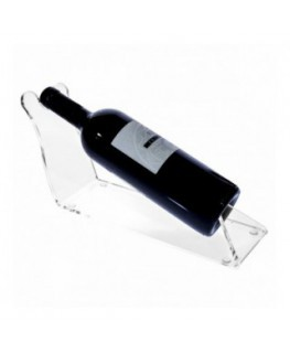 Clear Acrylic countertop wine bottle rack