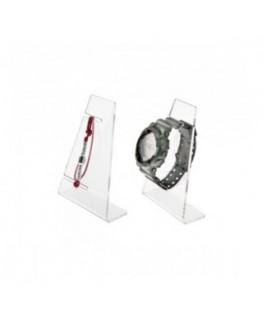 E-188 ESB - Portaorologi in plexiglass trasparente a 1 postazione - Misure: 9x4x H13 cm