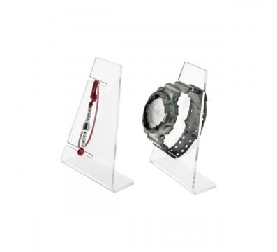 Portaorologi in plexiglass trasparente a 1 postazione - Misure: 9x4x H13 cm