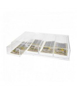 Clear acrylic countertop scratch card holder – 5...