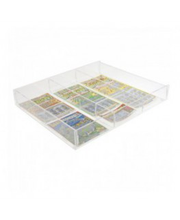 Clear acrylic countertop scratch card holder with 4 drawers