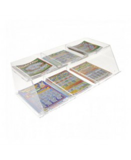 Clear acrylic countertop scratch card holder – 6...