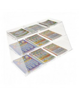 Clear acrylic countertop scratch card holder – 9...