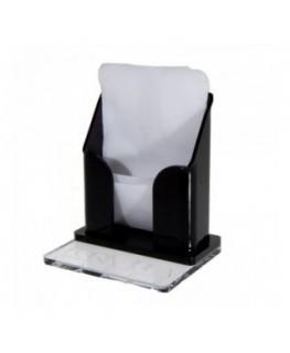 E-243 POT-B - Porta tovaglioli plexiglass trasparente e colorato - Misure: 9 x 3 x H10 cm