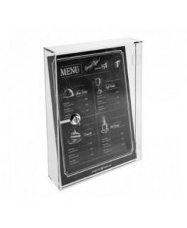 E-244 CAS - Teca in plexiglass trasparente con chiusura a chiave