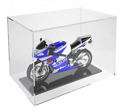 Schaukasten aus Plexiglass, transparent, 5 geschlossene Seiten, Hinterseite offen