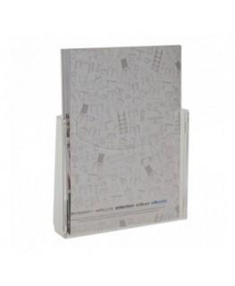 E-250 POD-A4V - Porta depliant da parete in plexiglass trasparente con tasca A4 Verticale